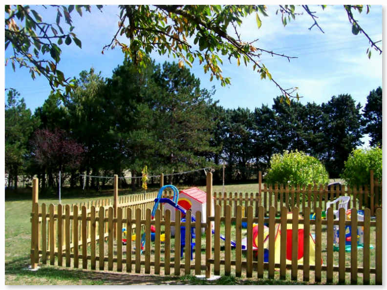 Secure enclosed children's play area